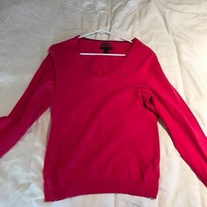 Tommy Hilfiger pink sweater large